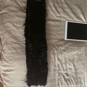 Real fur circle scarf